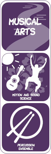 Musical Arts: Motion and Sound Science, Percussion Ensemble Logos